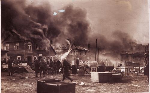 Plungės gaisras. J. Klietkutės kolekcija
